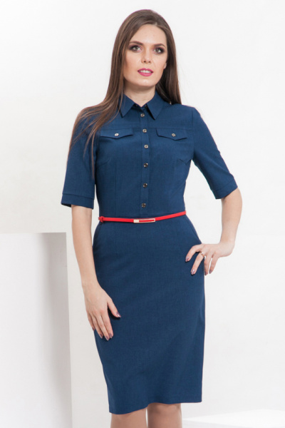 Платье-рубашка льняное, П-495